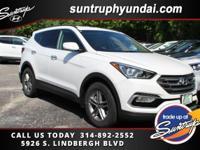 New Price! Frost White 2017 Hyundai Santa Fe Sport 2.4