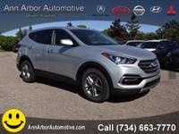 Silver 2017 Hyundai Santa Fe Sport 2.4 Base AWD 6-Speed