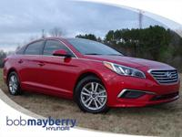 This 2017 Hyundai Sonata Eco Scarlet Red with a Gray
