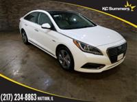 Hyper White 2017 Hyundai Sonata Hybrid Limited Ultimate