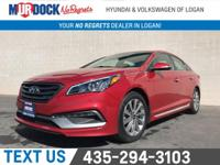 Gray Cloth.  Scarlet Red 2017 Hyundai Sonata Sport FWD
