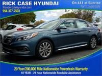 2017 Hyundai Sonata Limited  in Blue and 20 year or