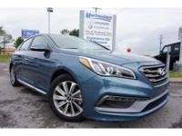 2017 Blue Hyundai Sonata Sport 6-Speed Automatic with