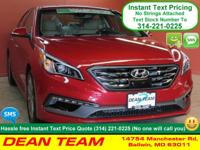 Sculpted in elegant Scarlet Red, our Hyundai Sonata