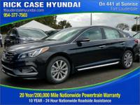 2017 Hyundai Sonata Limited  in Phantom Black. Super