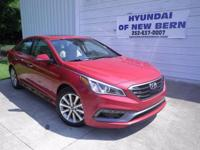 Red 2017 Hyundai Sonata Limited FWD 6-Speed Automatic