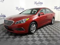 New Price! 2017 Hyundai Sonata Scarlet Red Certified.