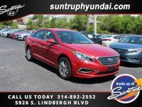 New Price! Scarlet Red 2017 Hyundai Sonata SE FWD