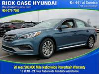 2017 Hyundai Sonata Sport  in Blue. You'll NEVER pay