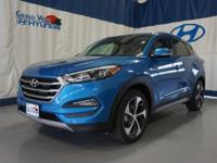 Blue 2017 Hyundai Tucson Eco AWD 7-Speed Automatic 1.6L