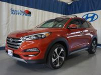 Orange 2017 Hyundai Tucson Eco AWD 7-Speed Automatic
