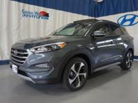 Gray 2017 Hyundai Tucson Eco AWD 7-Speed Automatic 1.6L