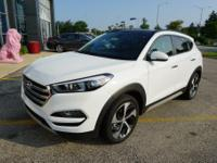 White 2017 Hyundai Tucson Limited AWD 7-Speed Automatic