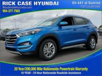 2017 Hyundai Tucson Eco  in Caribbean Blue and 20 year