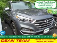 Our 2017 Hyundai Tucson Limited in Coliseum Grey is an