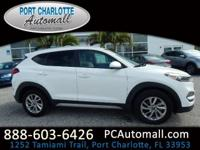 Clean CARFAX. White 2017 Hyundai Tucson SE FWD 6-Speed