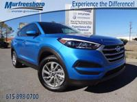 2017 Blue Hyundai Tucson SE 6-Speed Automatic with