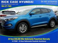 2017 Hyundai Tucson SE  in Caribbean Blue and 20 year