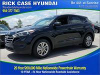 2017 Hyundai Tucson SE  in Black Pearl and 20 year or