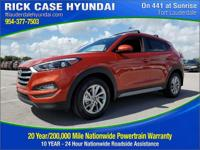 2017 Hyundai Tucson SE  in Sunset and 20 year or