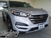 2017 Hyundai Tucson Limited in Silver. AUX CONNECTION,