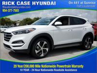 2017 Hyundai Tucson Sport  in White and 20 year or