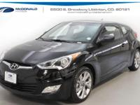 Black 2017 Hyundai Veloster FWD 6-Speed EcoShift Dual