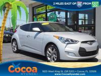 This 2017 Hyundai Veloster in Silver features: Clean