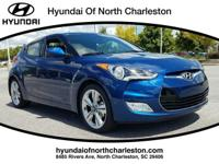 Pacific Blue 2017 Hyundai Veloster FWD 6-Speed EcoShift