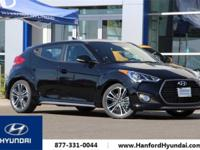 Ultra Black 2017 Hyundai Veloster Turbo FWD 7-Speed