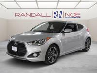 New Price! Silver 2017 Hyundai Veloster Turbo FWD