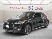 New Price! Black 2017 Hyundai Veloster Turbo FWD