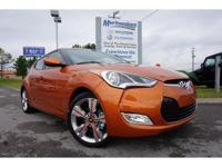 2017 Orange Hyundai Veloster Value Edition 6-Speed