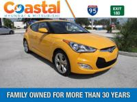 Yellow 2017 Hyundai Veloster Value Edition FWD 6-Speed