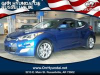 PACIFIC BLUE exterior and BLACK interior, Veloster