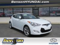 Veloster Value Edition, 3D Hatchback, White, and Black.
