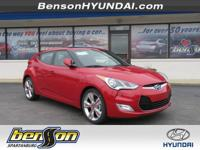 Veloster Value Edition, 3D Hatchback, Red, and Black.