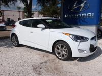 White 2017 Hyundai Veloster FWD 6-Speed EcoShift Dual