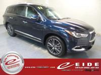 This 2017 INFINITI QX60 is Hermosa Blue exterior with