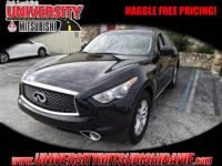 **HAGGLE FEE PRICING** 1-Owner 2017 Infiniti QX70 with