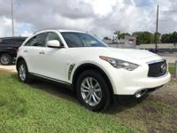 Options:  2017 Infiniti Qx70|Majestic White/Graphite|V6