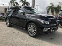 Options:  2017 Infiniti Qx80|Black Obsidian/Graphite|V8