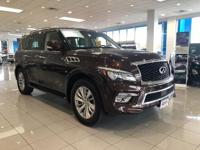 This INFINITI QX80 Has Rear Bucket Seats, Navigation,
