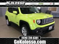 New Price! 2017 Jeep Renegade Hypergreen Clearcoat