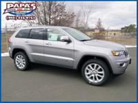 Clean CARFAX. Gray 2017 Jeep Grand Cherokee Limited 4WD
