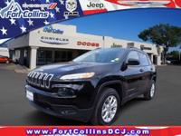 28/21 Highway/City MPG 2017 Jeep Cherokee Sport 2.4L