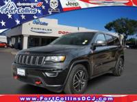 4WD. 2017 Jeep Grand Cherokee Trailhawk 5.7L V8 HEMI
