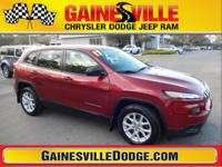 CARFAX One-Owner. Clean CARFAX. Cherokee Sport, 4D