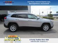 This 2017 Jeep Cherokee Latitude in Black is well