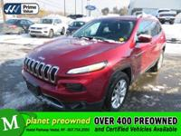Step up to our 2017 Jeep Cherokee Limited 4X4 brought